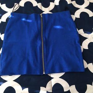 Blue zipper skirt